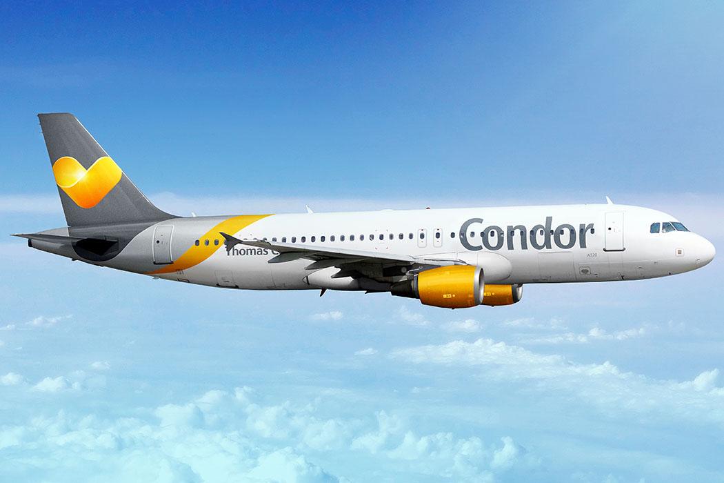 Kreta: Condor fliegt ab Frühjahr 2018 direkt nach Sitia in Ostkreta - Condor - Airbus A320-200 - Auf den Condor Kurz- und Mittelstreckenflügen werden neun Flugzeuge des Typs Airbus A320-200 zu Urlaubszielen in Europas und Nordafrika eingesetzt. Foto: Condor Newsroom