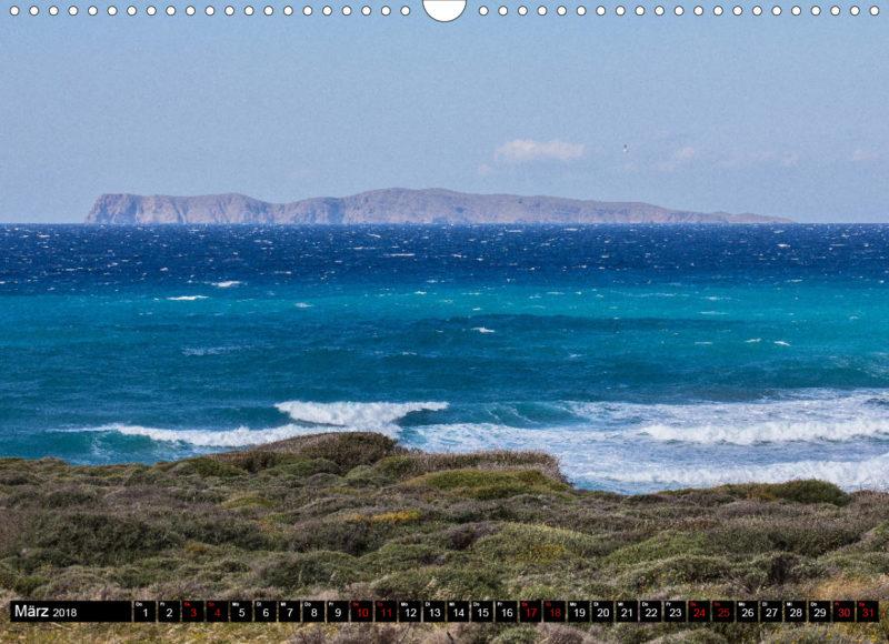 Fotokalender: Ostkreta - Zwischen Sitia und Ierapetra - Agia Fotia: Blick auf die Insel Gianysada, einer der vier Inseln der Inselgruppe Dionysaden