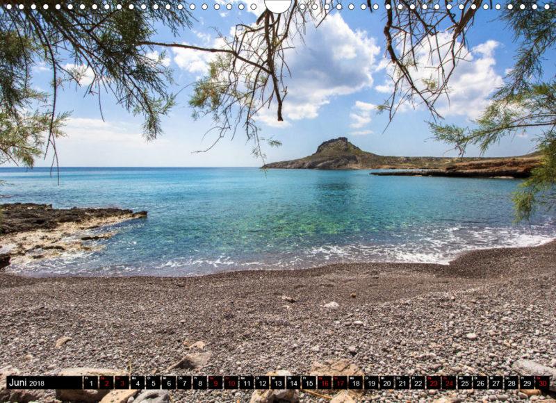Fotokalender: Ostkreta - Zwischen Sitia und Ierapetra - Xerokampos: Am Strand von Ligias Lakkos, mit feinem Kies und klarem Wasser
