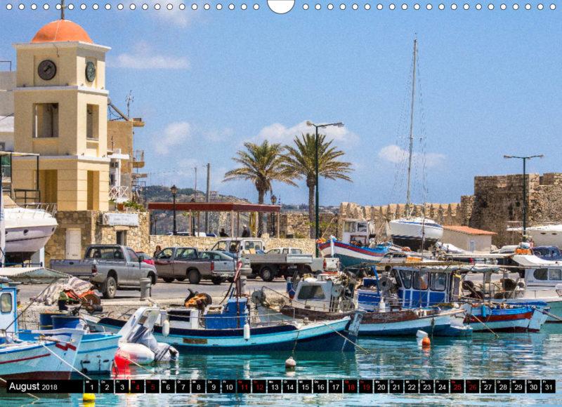 """Fotokalender: Ostkreta - Zwischen Sitia und Ierapetra - Hafenstadt Ierapetra: Der malerische Fischerhafen mit venezianischem Kastell, auch """"Kales"""" genannt"""