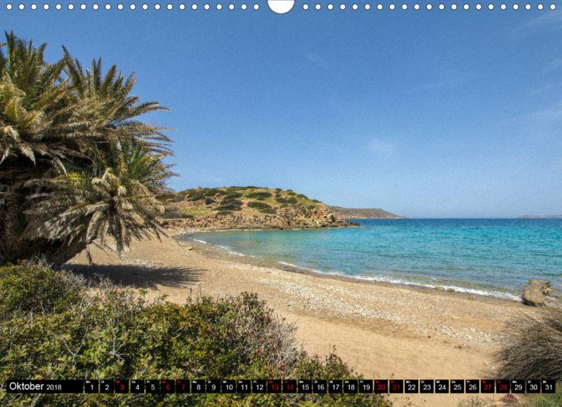 Fotokalender: Ostkreta - Zwischen Sitia und Ierapetra - Itanos: Der Palmenstrand im antiken Stadtgebiet von Itanos lässt Reiseträume wahr werden