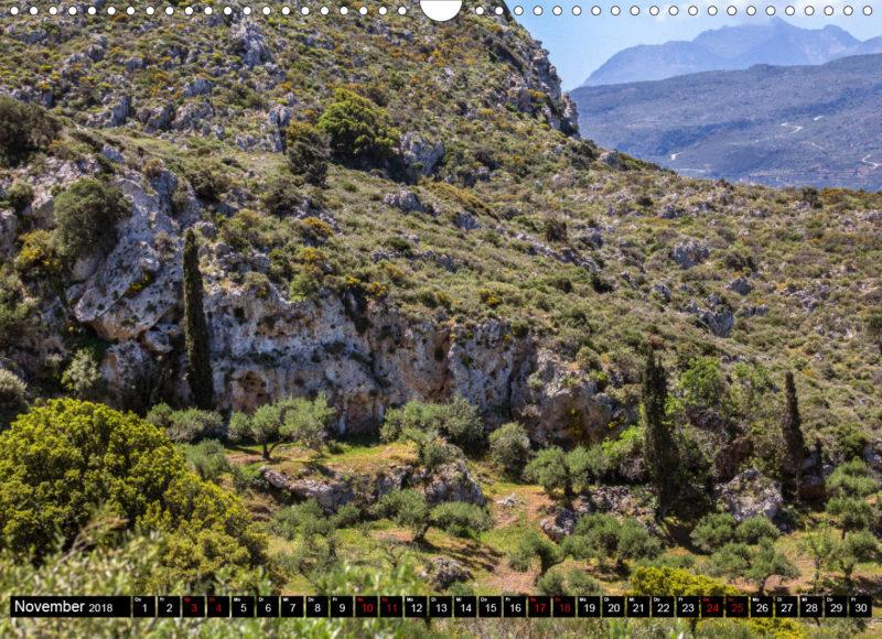 Fotokalender: Ostkreta - Zwischen Sitia und Ierapetra - Kato Drys: Wanderung auf den Prinias, im Hintergrund das Trypti-Gebirge mit dem Afentis Stavromenos