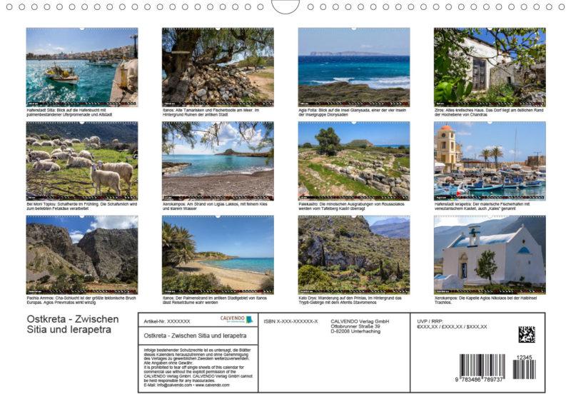 Fotokalender: Ostkreta - Zwischen Sitia und Ierapetra - Rückblatt