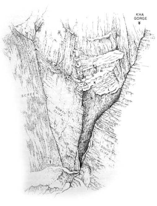 archiv.ub.uni-heidelberg.de - Die Zeichnung zeigt die Lage der Fluchtsiedlung Katalimata. Foto: archiv.ub.uni-heidelberg.de
