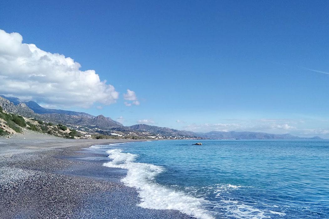 Creete_Ierapetra_Koutsounari Long Beach - Einer der längsten Strände Kretas ist der fünf Kilometer lange Koutsounari Beach beim gleichnamigen Dorf, oft auch nur Long Beach genannt.