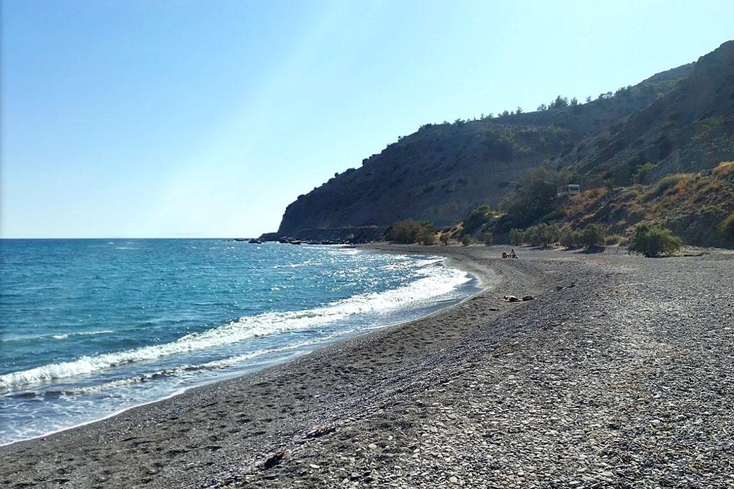 Crete_Ierapetra_Myrtos Beach - Der Strand von Myrtos zählt zu den schönsten um Ierapetra, daher ist Myrtos Bech inzwischen bei Familien mit Kindern beliebt.