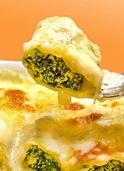 Pasta-Traum! Cannelloni mit Spinat-Ricotta-Füllung und Béchamelsauce