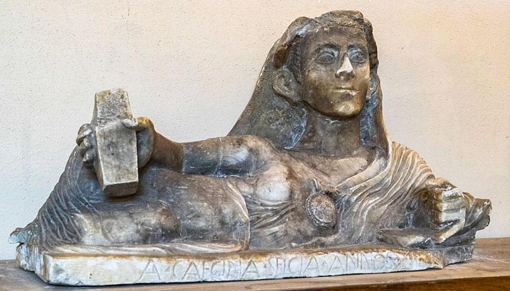 inscription A. Caecina Selcia annos XII-museum volterra-1
