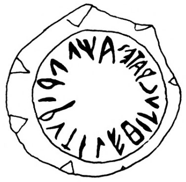 tarquinia, doganaccia tumulus, Rutile Hippocrates_01 - Der Weinkrug von Rutile Hipucrates wurde im etruskischen Alphabet beschriftet.
