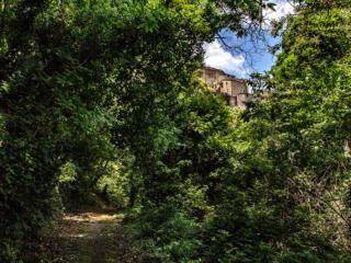Ein wunderbarer schattiger Wanderweg führt von Castelnuovo zu unserem Ferienhaus im Valle di Pavone.