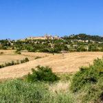 reise-zikaden.de, Italy, Tuscany, Volterra, SR 68 Saline, City Panorama
