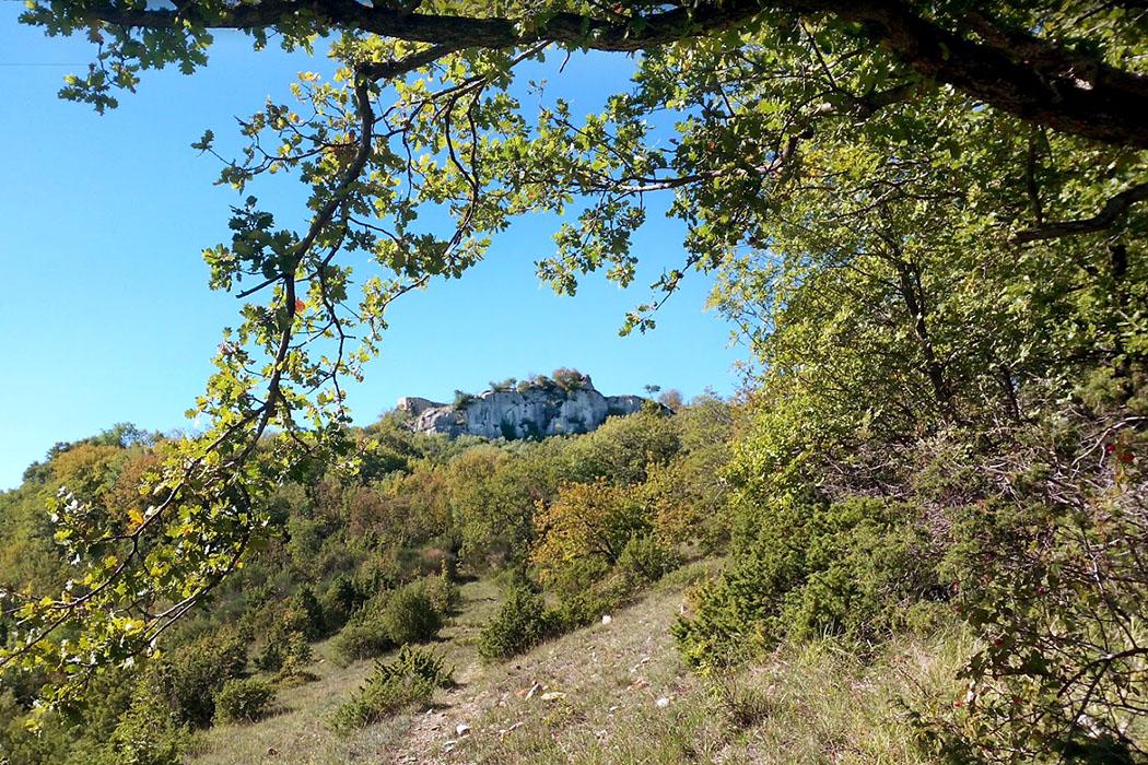 Toskana: Wanderung zur Ruine Rocca di Pietracassia im Val d'Era bei Volterra