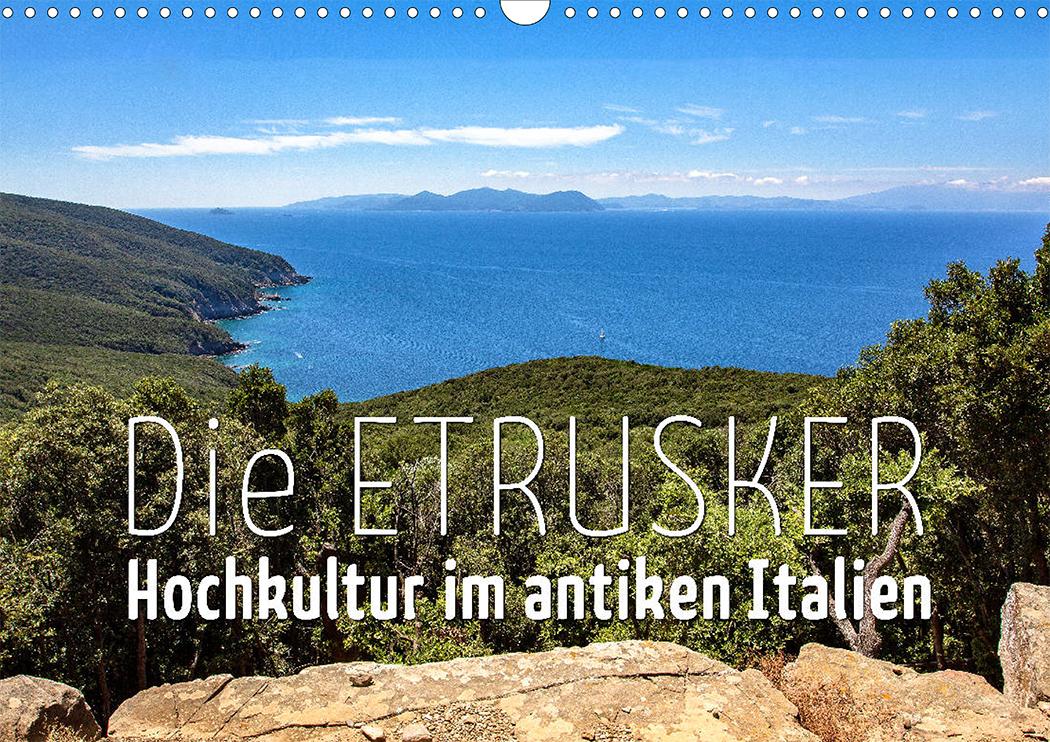 Toskana: Blick von Populonia auf die Insel Elba.