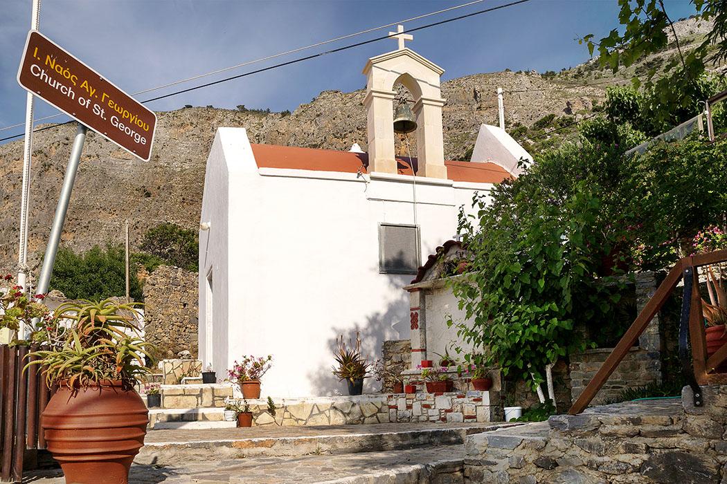 Monastiraki_Crete_pachia ammos_Church_of_St_George Die byzantinische Kirche Agios Georgios befindet sich im Zentrum von Monastiraki.
