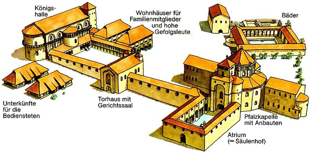 Modell Aachen Pfalz Kaiserpfalz