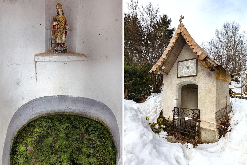 Oberhalb der Brunnenkapelle von Kleinhelfendorf wird ein Kultbereich mit Quellheiligtum aus der Bronzezeit vermutet.