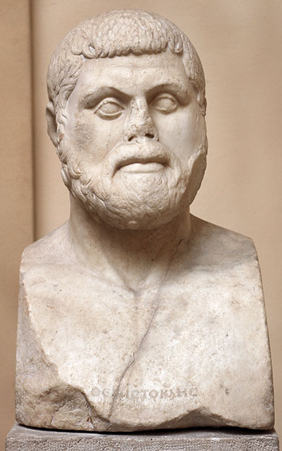 Antike Persönlichkeiten: Themistokles - Der umstrittene Held wikipediai_temistocle-01-Themistokles (524 – 459 v. Chr.). Die Bildnisherme ist eine römische Kopie eines Statuenportraits und wurde in Ostia antica bei Rom gefunden. Foto: Wikipedia, Sailko
