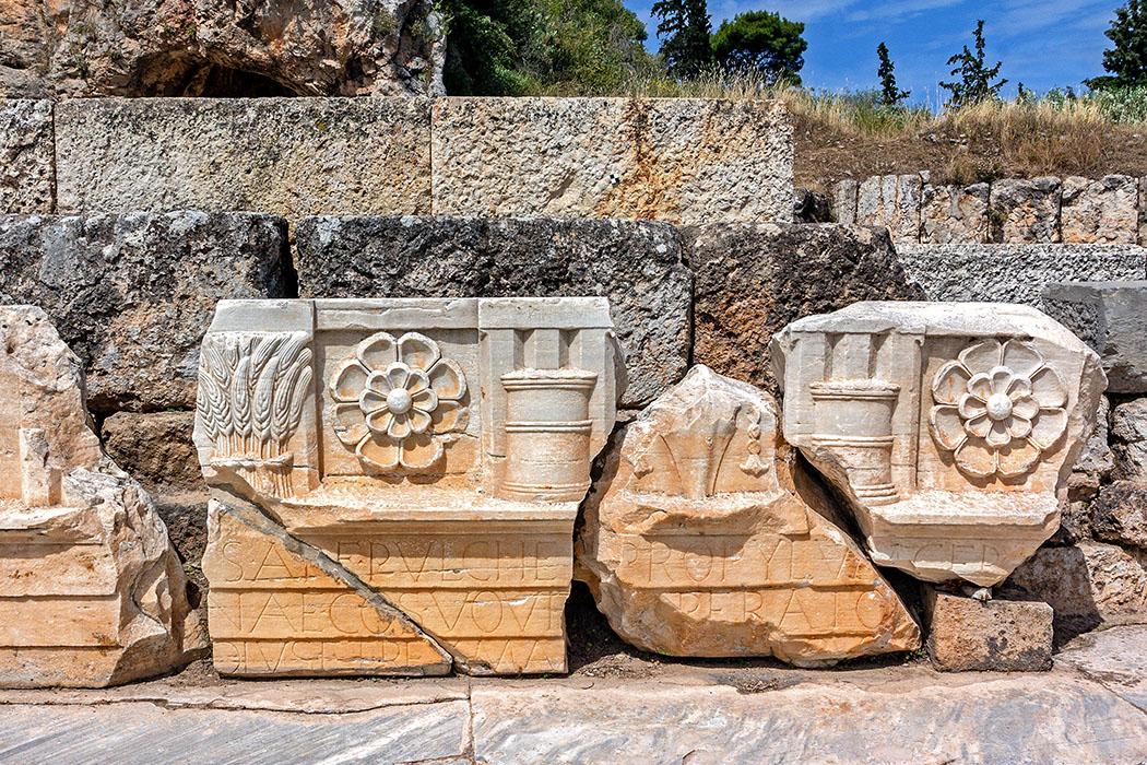 Griechenland: Attika – Eleusis und der Mysterienkult im Demeter-Heiligtum reise-zikaden.de, greece, attica, eleusis, elefsina, kleiner propylaen, details