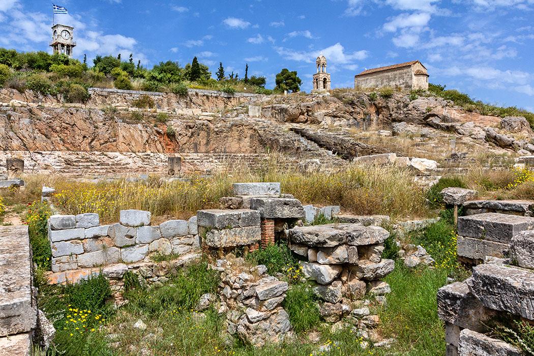 Griechenland: Attika – Eleusis und der Mysterienkult im Demeter-Heiligtum reise-zikaden.de, greece, attica, eleusis, elefsina, telesterion, megaron, panagitsa mesosporitissa