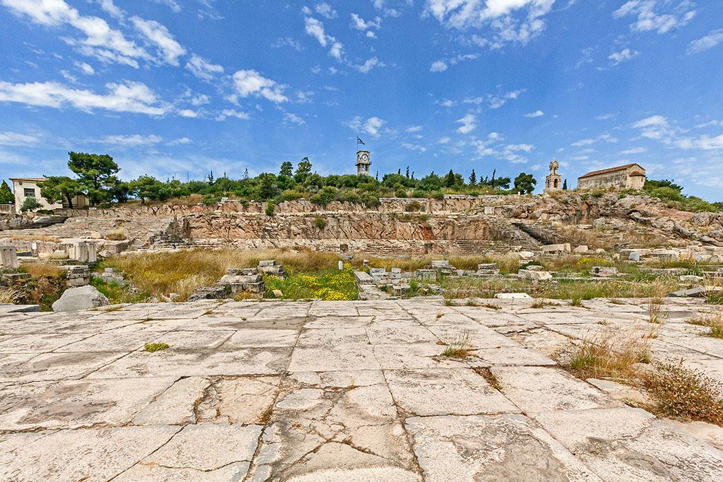 Griechenland: Attika – Eleusis und der Mysterienkult im Demeter-Heiligtum reise-zikaden.de, greece, attica, eleusis, elefsina, telesterion, panorama