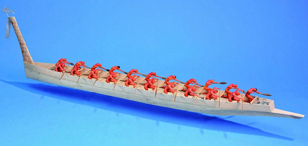 Modell eines Kykladenschiffes