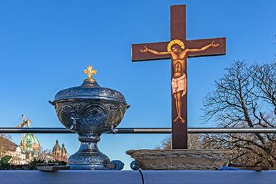 Theophanie 2020 in München: Griechisch-Orthodoxe Segnung der Isar reise-zikaden.de, deutschland, bayern, muenchen, Theophanie 2020 in München, Griechisch-Orthodoxe Segnung der Isar