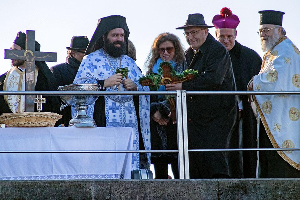 Theophanie 2020 in München: Griechisch-Orthodoxe Segnung der Isar