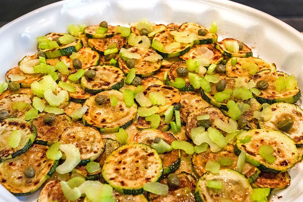 reise-zikaden.de, Zucchine marinati, Marinierte Zucchini mit Selerie