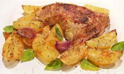 reise-zikaden.de, Hühnchen mit Kartoffeln im Ofen: Kotopoulo me