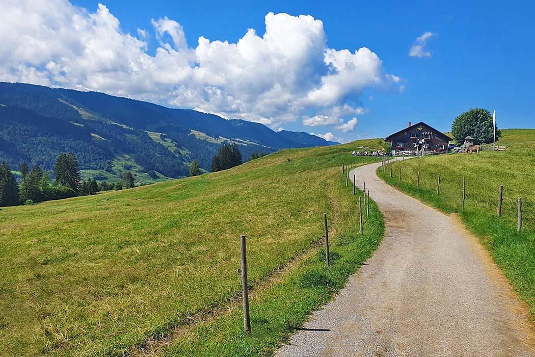 siedelalpe_zaumberg_immenstadt_oberallgaeu_ol Die Siedelalpe liegt über dem Großen Alpsee und gegenüber der Nagelfluhkette und bietet eine Aussicht auf Mittagberg und Gschwender Horn. Foto: Wikipedia, Durum