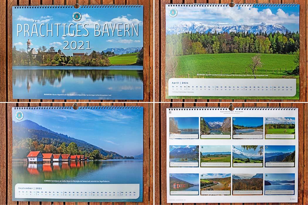 """Die ersten Exemplare von unserem Fotokalender """"Prächtiges Bayern"""" liegen vor. Mit der Papier- und Druckqualität sind top. Sichert euch ein Exemplar!"""