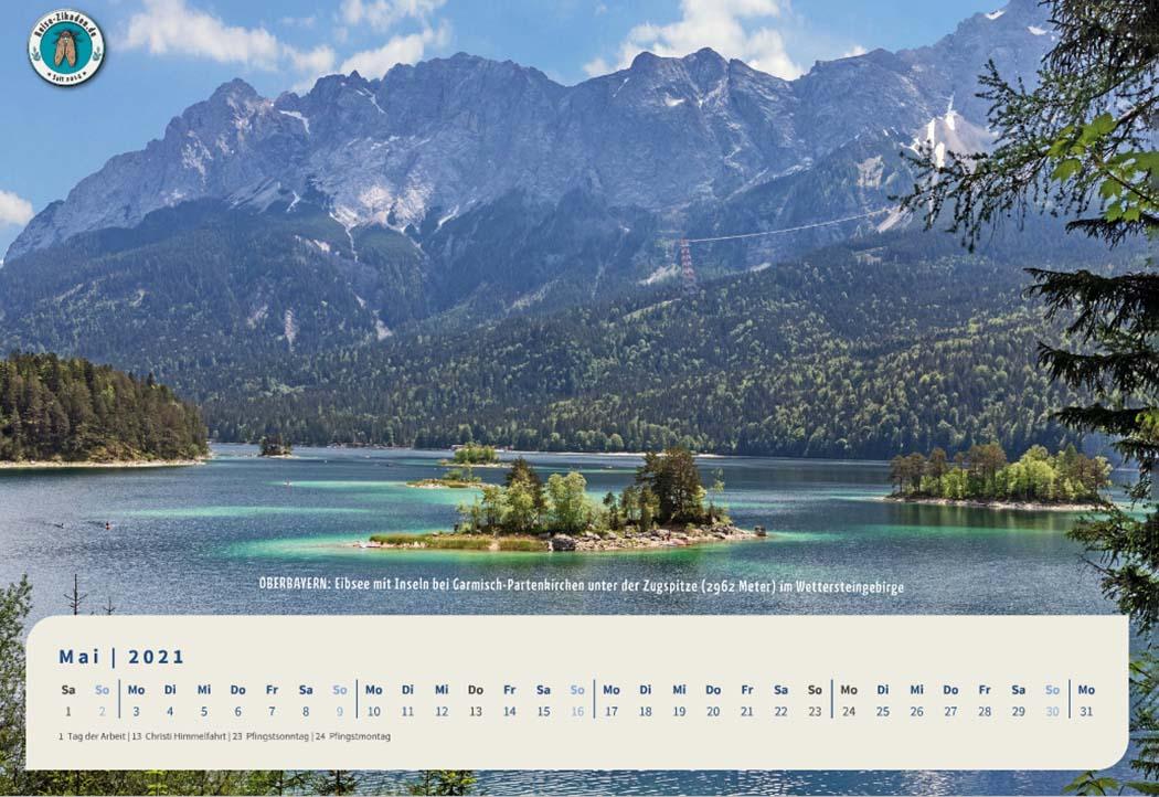 Prächtiges Bayern – Der Fotokalender für 2021 von Reise-Zikaden