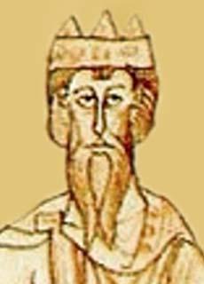 Konrad II. 990 – 1039_ol Portrait Kaiser Konrad II. (990 - 1039). Datierung: um 1130. Chronica Ekehardi Uraugiensis, Cod. lat. 295, fol. 81v. von Ekkehard von Aura. Foto: Wikipedia