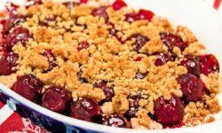 reise-zikaden.de, Kirsch-Crumble – Streusel Dessert mit Kirschen aus dem Ofen