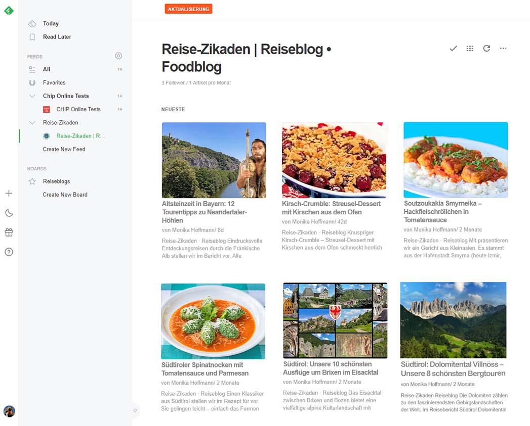 reise-zikaden.de, In eigener Sache: Wir schließen unseren FeedBurner Nutzerkonto für RSS feedly screenshot-ol feedly screenshot-ol Die Benutzeroberfläche des cloudbasierten und kostenlosen RSS-Readers Feedly ist auch auf dem Smartphone einfach zu bedienen. Foto: feedly.com